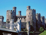 Conwy Castle (Wales) - started in 1283, its walls are to 4.5 metres thick!
