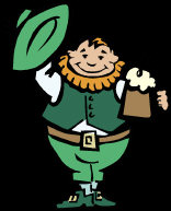 Good Spirit - a jolly Leprechaun, taking his hat off to you, with a pint in his hand.