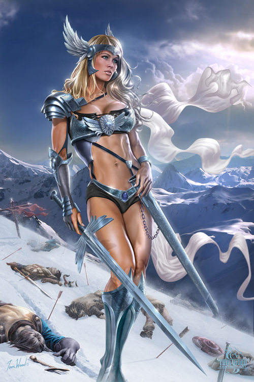 Viking Valkyrie - Viking Ghost Warrior - Valhalla Goddess - Tom Wood